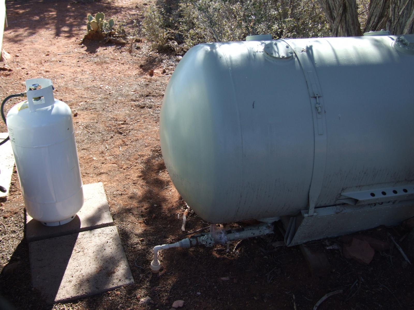 Water storage and Propane
